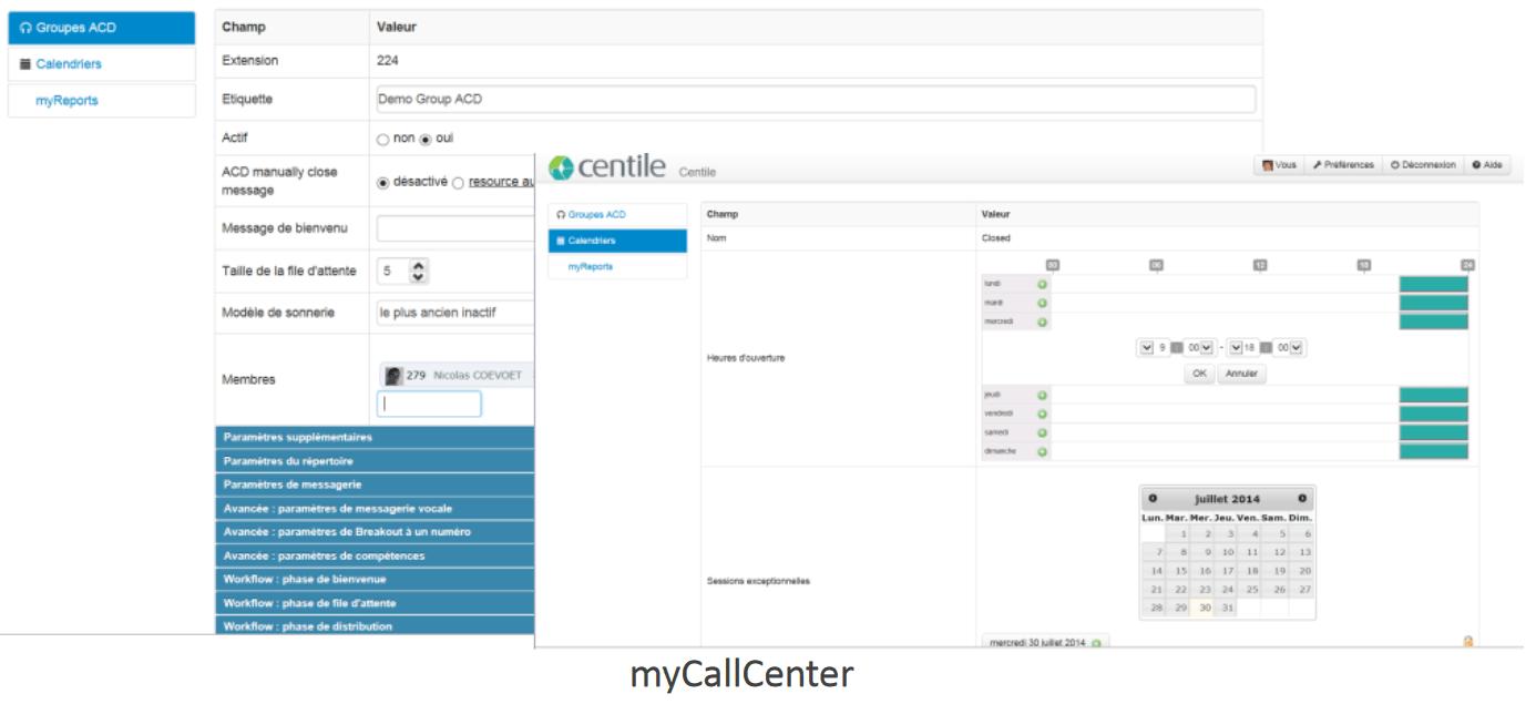 MyCallCenter : application web conviviale d'administration